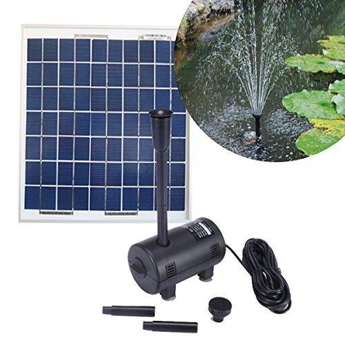 Kit Pompe solaire 980L/h pour bassin de jardin avec Panneau solaire 20W - Expédié depuis la France