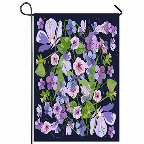 - Ahawoso Outdoor Garden Flag 12x18 Inches Spring Raster Shades Purple Floral Pattern Romantic Abstract Watercolor Bouquet Different Flowers Seasonal Double Sides Home Decorative House Yard Sign