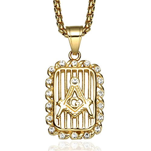 Card Child Personalized Prayer (Jewelrysays Hip Hop Jewelry Crystal Masonic Hollow Dog Tag Pendant Bling Army Card Necklace (Gold))
