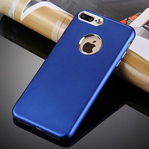 MXNET Iphone 7 Plus-Kasten, reiner Farben-Öl-Auslauf-weicher TPU-Metallknopf-schützender Fall-rückseitige Abdeckung CASE FÜR IPHONE 7 PLUS ( Color : Blue )