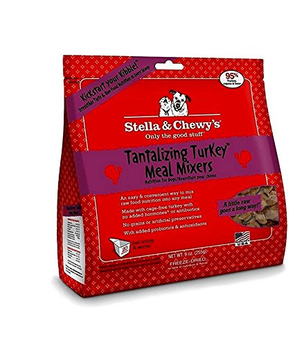 Stella & Chewy's Freeze Dried Dog Meal Mixers – Tantalizing Turkey – 9 oz For Sale