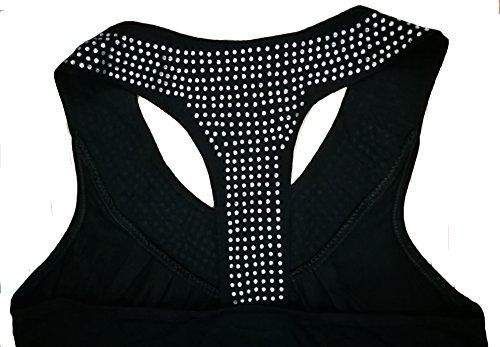 NEWZCERS Las mujeres de la manera visten el cuello del v con el vestido del día de fiesta de la playa del beachwear del rhinestone Negro