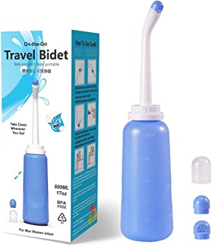 Meidong Portable Travel Bidet Handheld Personal Bidet Sprayer Portable Bidet For Toilet 500ml Eva Bottle Water Capacity For Personal Hygiene Cleaning Baby Care Soothing Postpartum Care Amazon Com