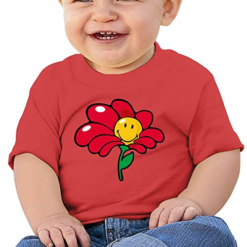 Kids Short Sleeve Tshirt Happ Sunflower Emoji Birthday Day Baby Girls-boy