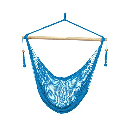 Cheap Bliss Hammocks BHC-412LB Island Rope Hammock Chair, Light Blue