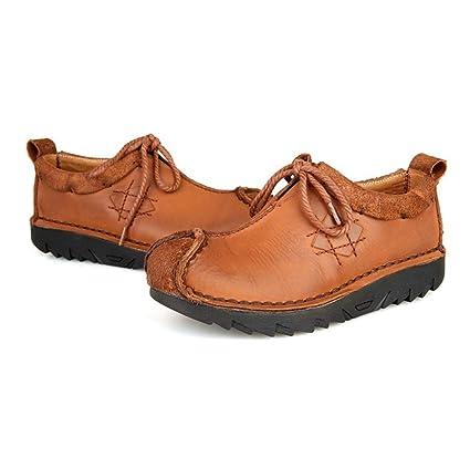 WYFC Mocasines para Hombre Zapatos Planos Oxford para Uso Diario Zapatos Ligeros para Trabajo Cómodo Confort
