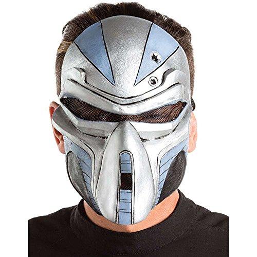 Light-Up Cyborg Robot Mask Gray]()