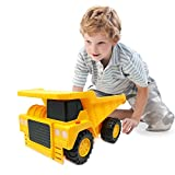 Boley Large Dump Truck Construction Vehicle - 18-inch Button-Activated Light & Sound Construction Toys, Perfect Truck Toy for Toddler Boys