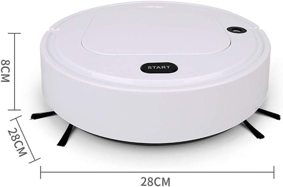 LXRZLS Aspirapolvere del Robot 4-in-1 Auto Ricaricabile Intelligente Spazzare Robot Dry Wet Spazzare Aspirapolvere Disinfezione casa (Color : White) White