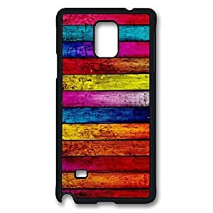 Coloured Timber.jpg Printed Hard Plastic Case Cover for Samsung Galaxy Note 4