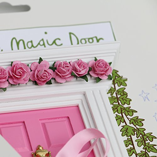 Fairy Door - Best Vintage Rose Bubblegum Pink Magic Door and Ladder Set for Kids Room Perfect for Bringing Fun, Adventure and Magic to Your Home by Magical Little World (Image #3)