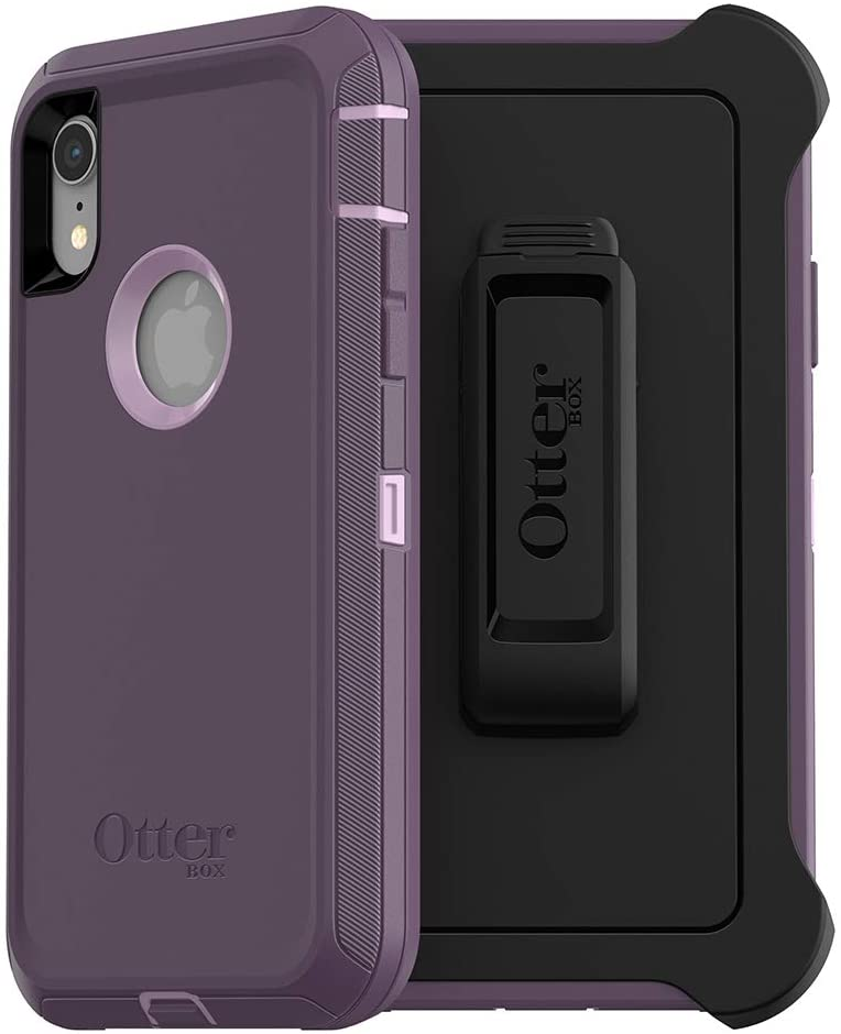 OtterBox DEFENDER SERIES SCREENLESS EDITION Case for iPhone Xr - Retail Packaging - PURPLE NEBULA (WINSOME ORCHID/NIGHT PURPLE)