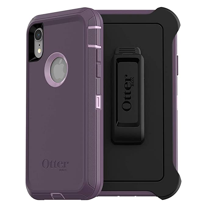 new arrivals 82331 3166a OtterBox Defender Series SCREENLESS Edition Case for iPhone Xr - Retail  Packaging - Purple Nebula (Winsome Orchid/Night Purple)