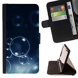 Momo Phone Case / Flip Funda de Cuero Case Cover - Burbujas Bokeh;;;;;;;; - Samsung Galaxy S5 V SM-G900