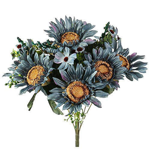 Tanshine Artificial Sunflower Bouquet Faux Silk Sunflowers Handcrafted Single Bunch for Home Indoor Centerpiece…