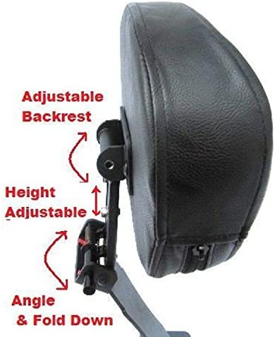 Fully Adjustable Drivers Backrest for 04 Honda Shadow Aero VT750 Contoured