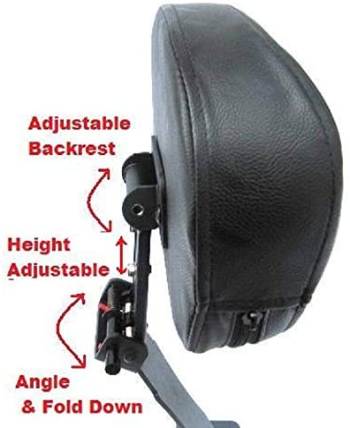 Fully Adjustable Drivers Backrest for 04 Honda Shadow Aero VT750 Contoured
