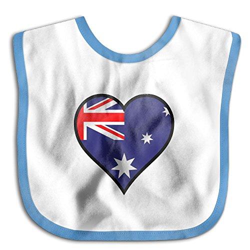 Price comparison product image OcTup Australian Flag Comfortable Unisex Baby Bibs Absorbent Cotton Bibs Drool Bibs
