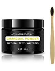 Teeth Whitening Kit Activated Charcoal - Teeth Whitener Powder - Professional Whiter Teeth at Home - Free Organic Bamboo Toothbrush with Every Order