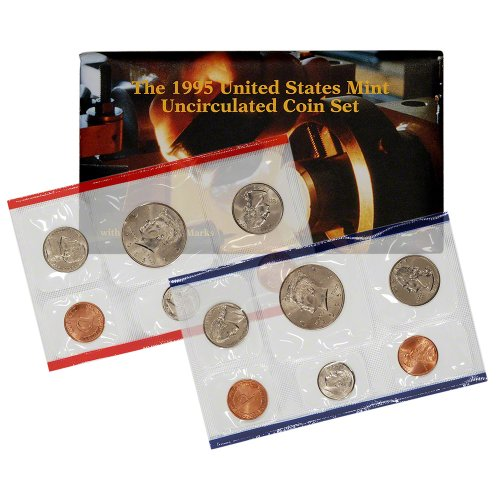 1995 United States Mint Uncirculated Coin Set (U95) in Original Government Packaging 1995 Mint Set