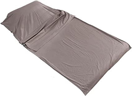 Soft Cotton Sleeping Bag Liner Inner Camping Sheet for Traveling Hostels Camping