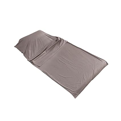 Outry Sábana para Saco de Dormir 100% algodón, Saco de Dormir de Verano Ultraligero,Viajes y Camping Sábanas