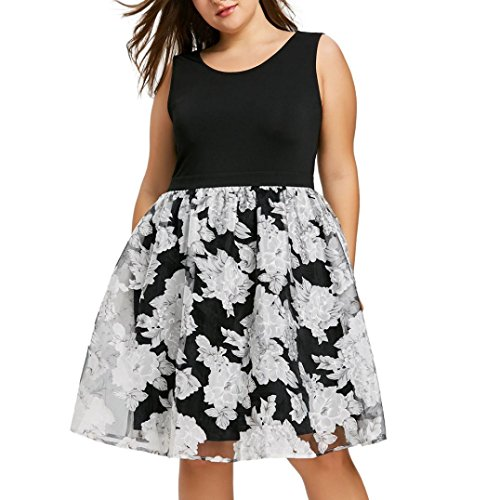 Floral Evening Boho Neck Dress Sexy V Plus Dress Maxi Black 1 Size Beach Party Women 8wZfqnY4