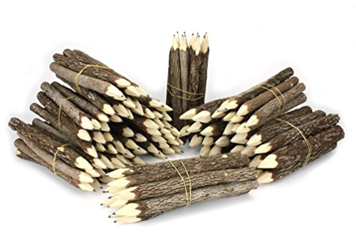 Farang Thai Tree Branch Twig Pencil Bundle 10 Bundles Black by Farang