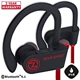 Bluetooth Headphones ZEUS SPORT Wireless Headphones Sweatproof Earbuds with Mic Sports Earphones for Running Workout Earbuds with Case Gifts for Men Women Best Friends Gifts