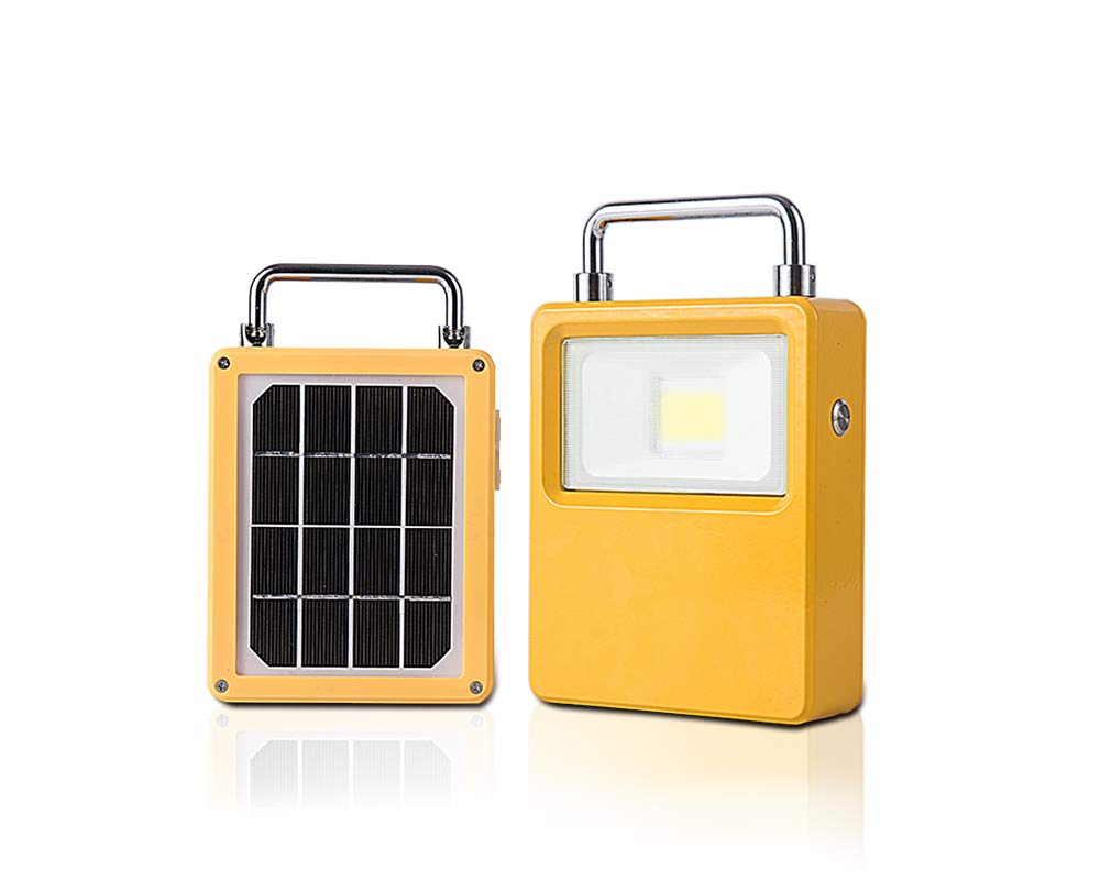 10W Rechargeable Work Light with Solar Panel,Cordless LED Work Light,New Design Portable LED Camping Light.Waterproof Solar Powered Outdoor Lights for Traveling, Fishing and Emergency Use