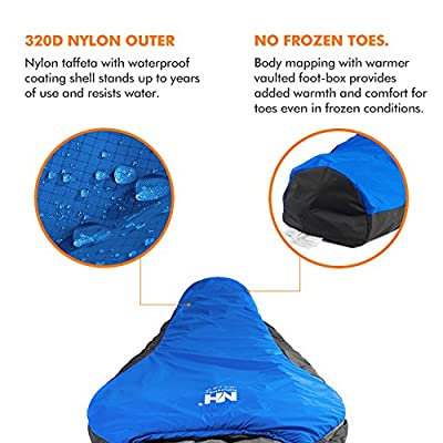 Ohuhu 0 Degree Mummy Camping Sleeping Bag with a Carrying Bag