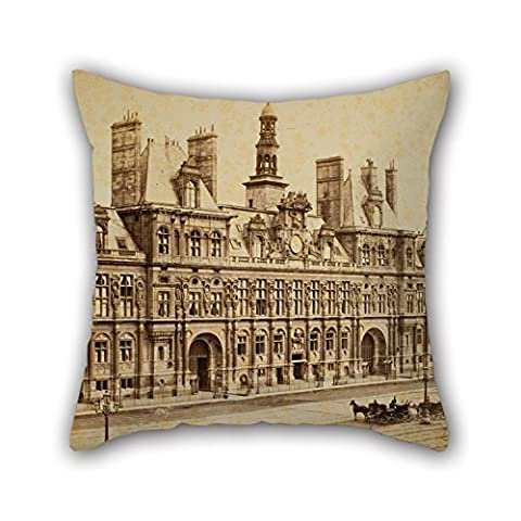 Artistdecor 20 X 20 Inches / 50 By 50 Cm Oil Painting Charles Marville - Hôtel De Ville, Paris Throw Pillow Covers,2 Sides Is Fit For Study Room,lover,floor,home Office,dinning (Secret Life Of Bees Dvd)