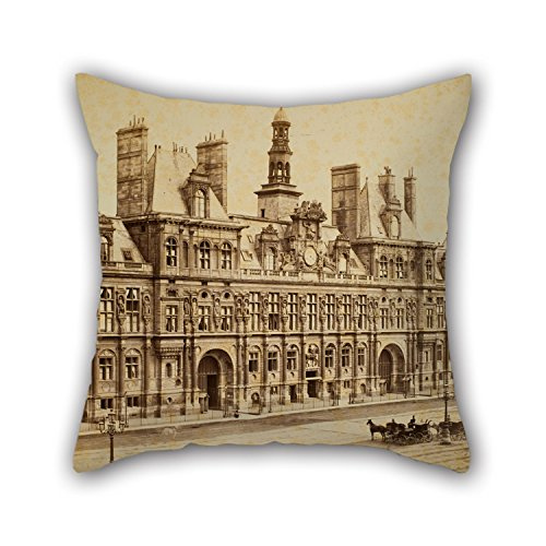 (Artistdecor 20 X 20 Inches / 50 By 50 Cm Oil Painting Charles Marville - Hôtel De Ville, Paris Throw Pillow Covers,2 Sides Is Fit For Study Room,lover,floor,home Office,dinning)