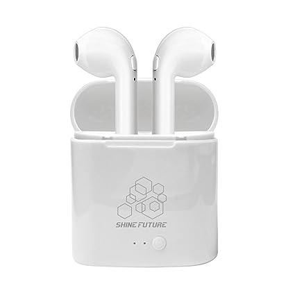 Auriculares Bluetooth Auriculares inalámbricos con micrófono con estuche de carga portátil para iPhone Samsung y otros