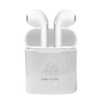 Auriculares Bluetooth Auriculares inalámbricos con micrófono con estuche de carga portátil para iPhone Samsung y otros teléfonos inteligentes: Amazon.es: ...