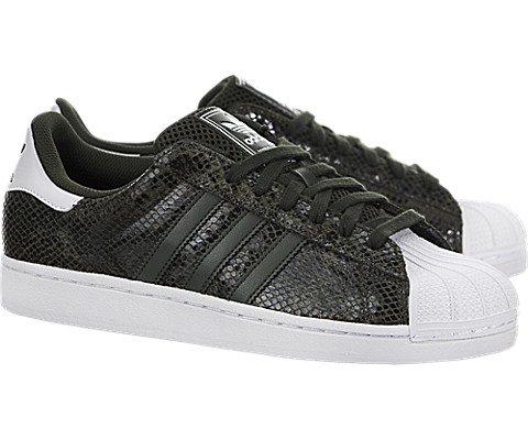 Adidas Originals Heren Superstar Casual Sneake Night Cargo / Night Cargo-white