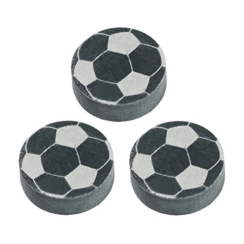 Sports Whiskey Chilling Rocks - Set of 3 Ice Stones - Soccer Balls