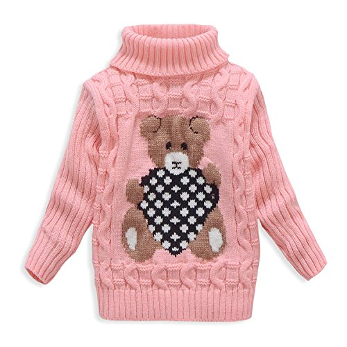 Nine Minow Kids Bear Turtleneck Sweater Boys Girls Knit Sweater