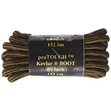 Rust w/Black Heavy Duty Kevlar Reinforced Boot Laces Shoelaces - 2 Pair Pack