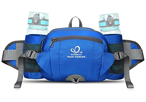 WATERFLY Fanny Pack with Water Bottle Holder Unisex Hiking W