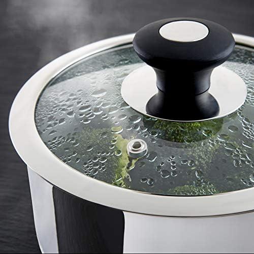 Tower T900100 Precision Lot de 8 poêles avec revêtement en céramique antiadhésif Noir Diamond Acier inoxydable