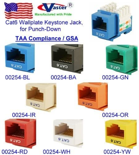 [ZHKZ_3066]  Amazon.com: Cat6 / RJ45 Female Green Wallplate Keystone Jack, Punch-Down  TAA GSA: Computers & Accessories | Female Rj45 Connector Wiring Diagram |  | Amazon.com