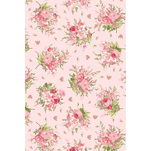 Heather~Floral Bouquet on Pink 8392-P Cotton Fabric by Maywood Studio