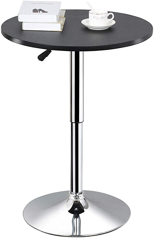 Pedestal Dining Table Bistro Bar Height Pub Contemporary Metal Kitchen Counter