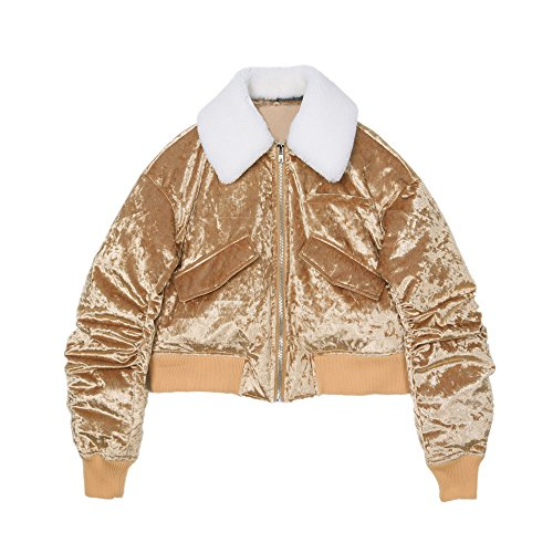 Laine Courte The Femme Rétro Gold Pour Agneaux Down Est D'or Veste L'hiver Jacket ZwqPqzfdx