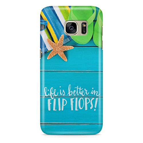 Phone Case For Apple iPhone 6 Plus - Life Is Better In Flip Flops Premium Wrap-Around