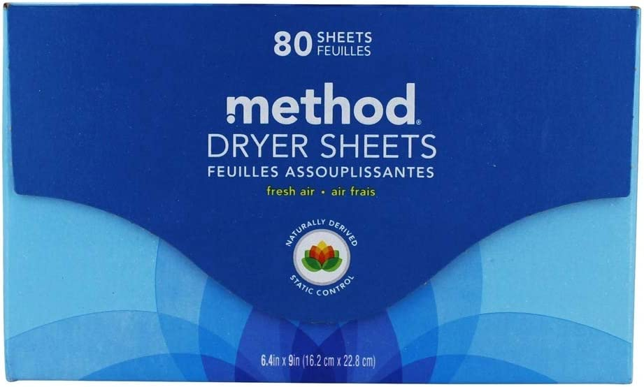 Method, Dryer Sheets Fresh Air, 80 Count