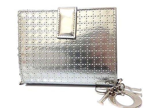 (クリスチャンディオール) Christian Dior カナージュ ファスナー 二つ折り財布 レザー ユニセックス 0478 中古 B07CMN6GX1