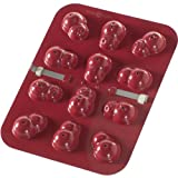 Nordic Ware 43609 12-Cavity Snowman Cake Pops Pan, Red