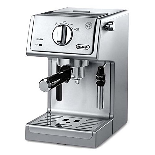 De'Longhi Bar Pump Espresso And Cappuccino Machine, 15″, Stainless Steel